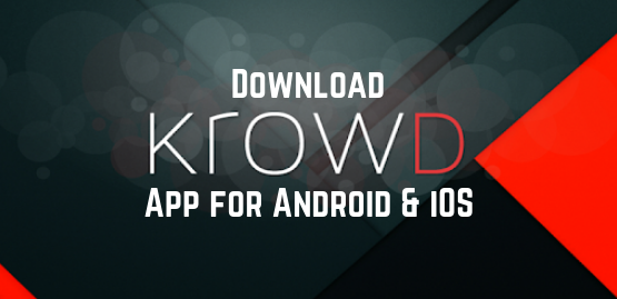 Krowd App for android and ios